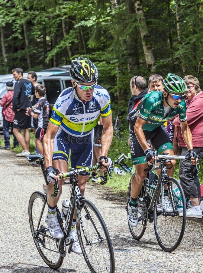 骑自行车者上升 编辑类照片