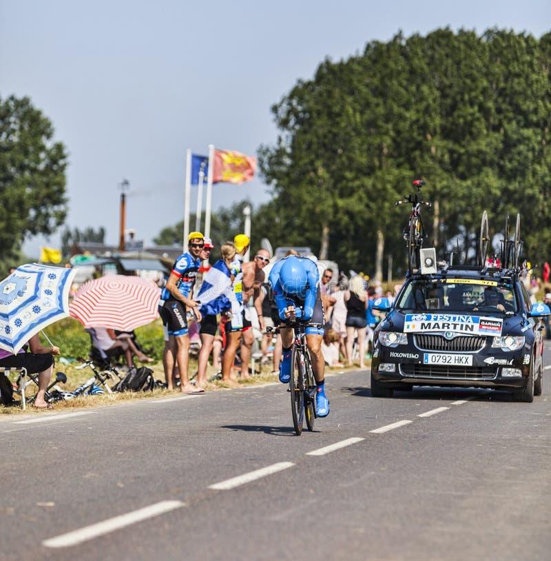 骑自行车者丹尼尔马丁 编辑类照片