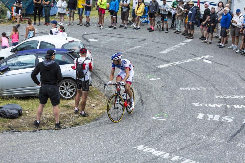 骑自行车者伯努瓦Vaugrenard -环法自行车赛2015年 免版税库存照片