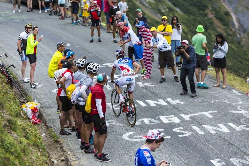 骑自行车者伯努瓦Vaugrenard -环法自行车赛2015年 库存照片