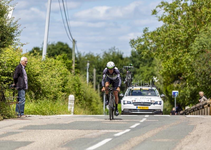 骑自行车者毛哔叽鲍威尔斯- Criterium du杜法因呢2017年 免版税图库摄影