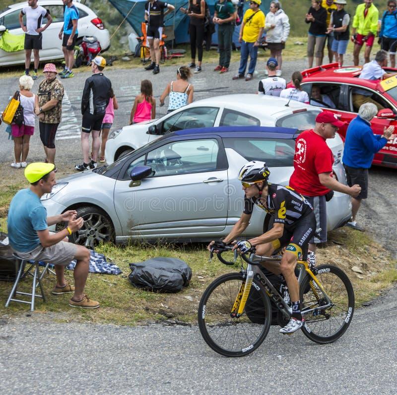 骑自行车者毛哔叽Pauwels -环法自行车赛2015年 库存图片