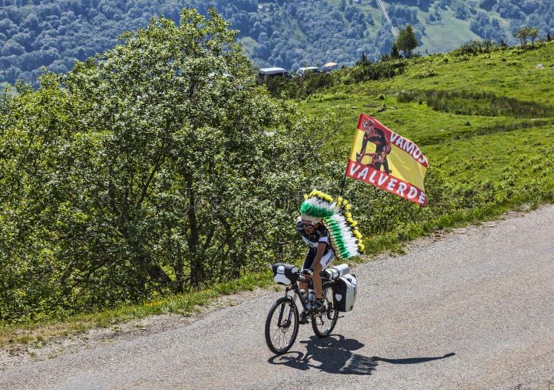 骑自行车者瓦尔韦德的爱好者 库存图片