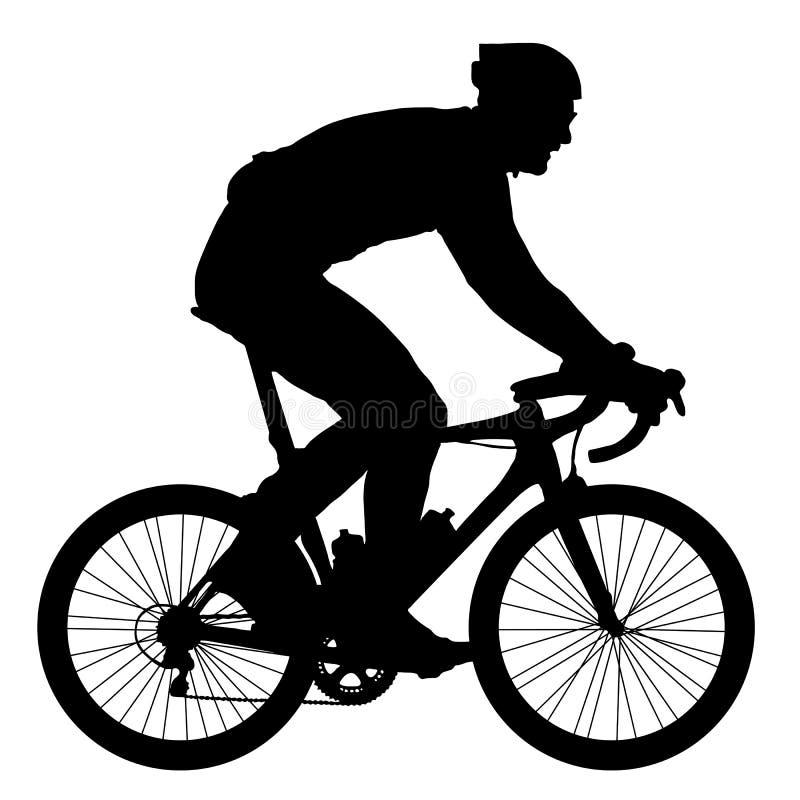 骑自行车者的剪影,传染媒介例证 向量例证