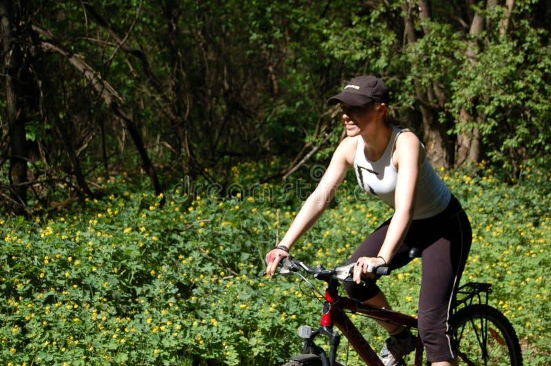 骑自行车者行动 免版税库存图片