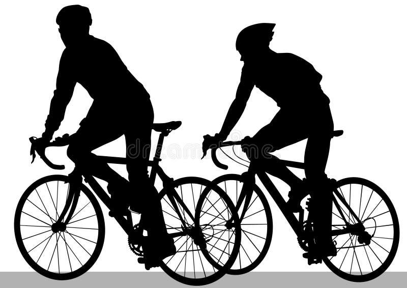 骑自行车者运动员 向量例证