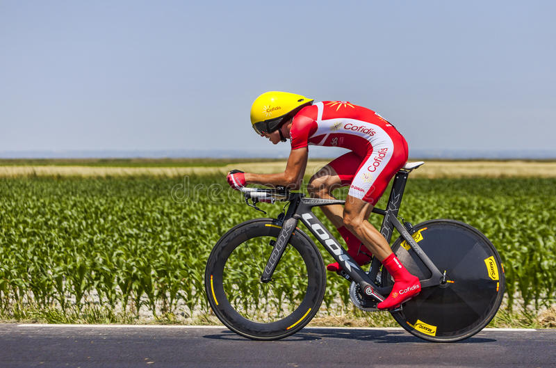 骑自行车者鲁迪Molard 编辑类库存照片