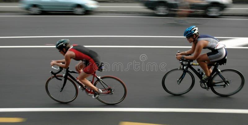 骑自行车者 库存照片