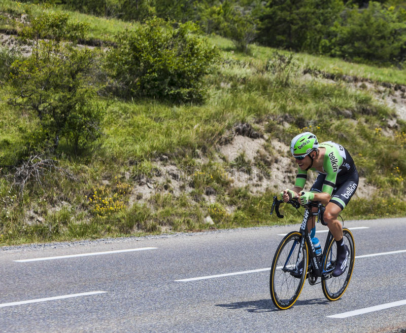 骑自行车者Lars景气 编辑类库存图片