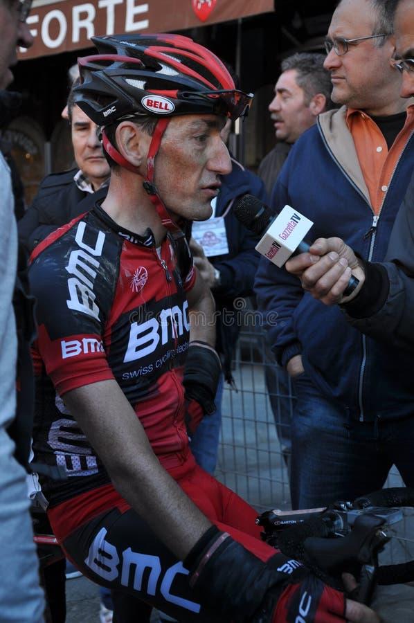 骑自行车者marco Pinotti 图库摄影片