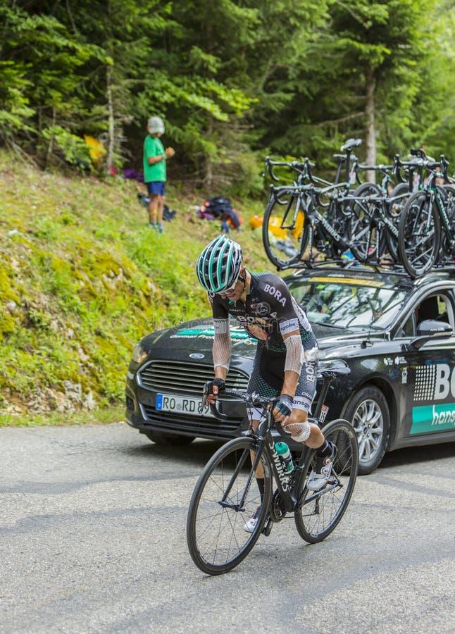 骑自行车者Rafal Majka -环法自行车赛2017年 库存图片