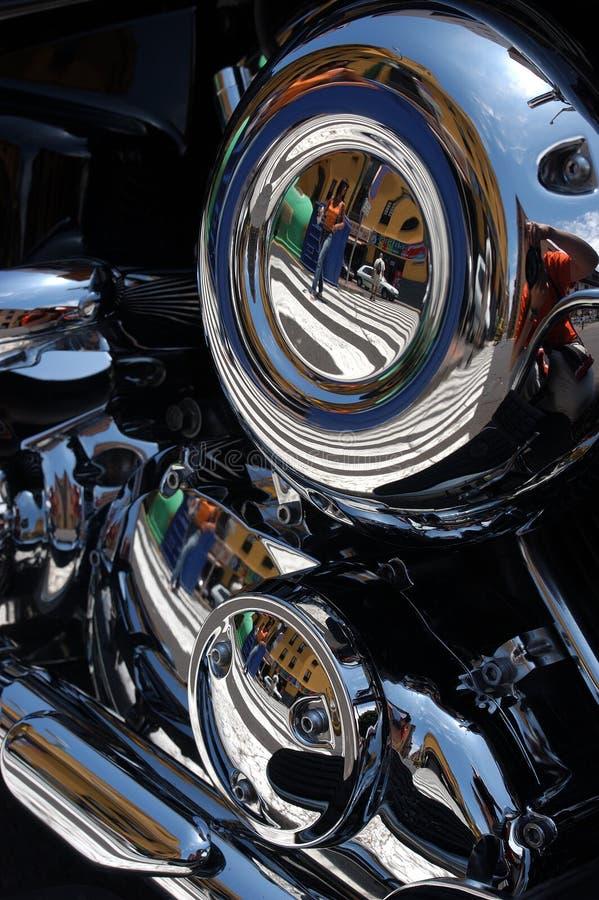 骑自行车被镀铬的马达 库存图片