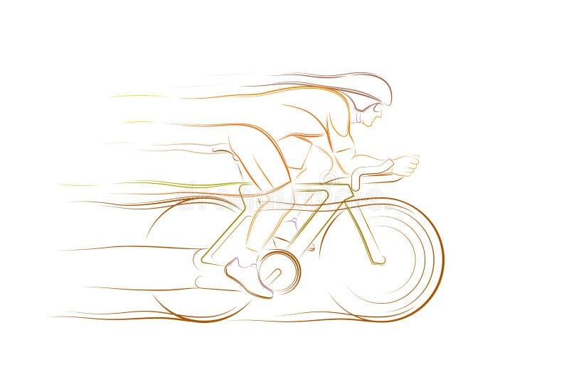 骑自行车赛跑 库存例证