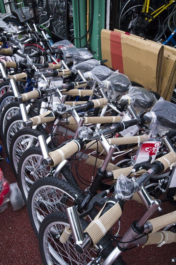 骑自行车销售额 库存照片