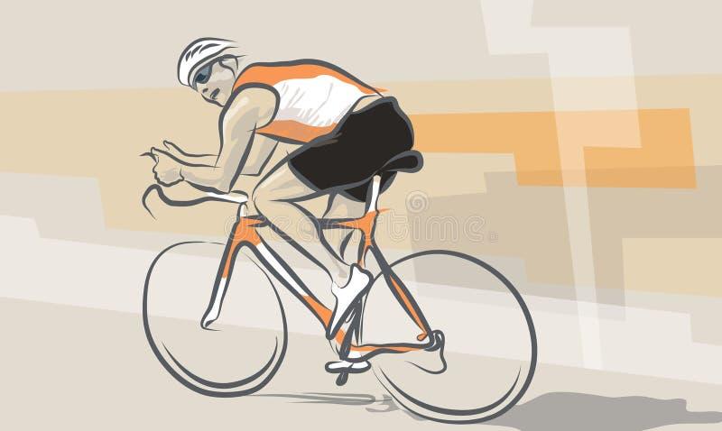骑自行车 向量例证