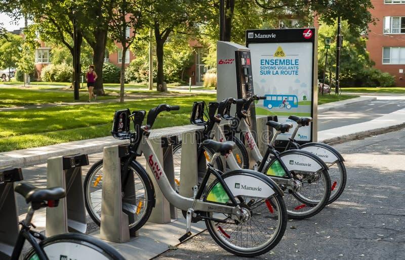 骑自行车bixi 免版税图库摄影