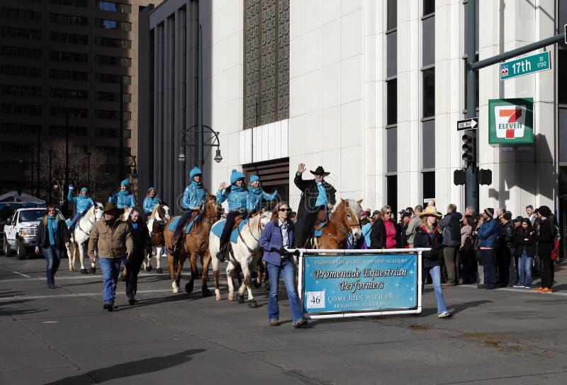 骑马俱乐部-全国西部储蓄展示游行 免版税库存照片