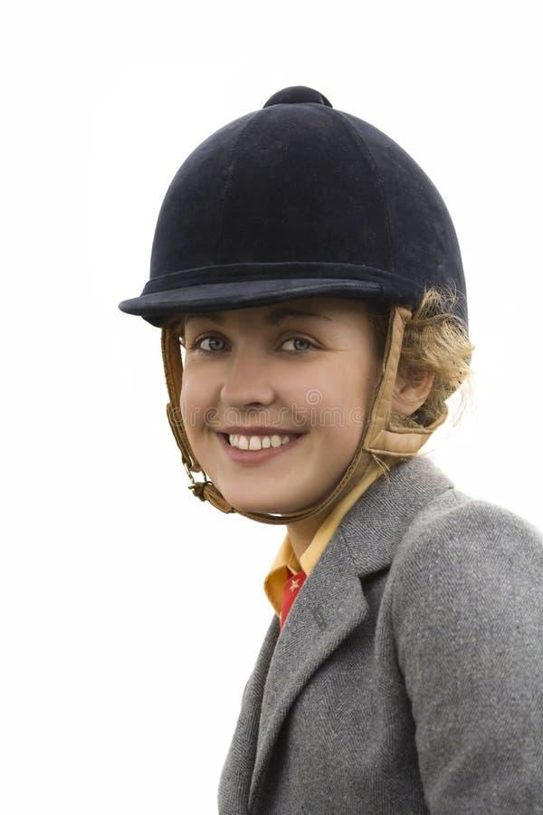 骑马女孩 免版税库存图片