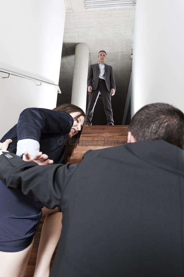 骚扰工作 免版税图库摄影