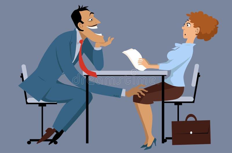 骚扰性工作 向量例证