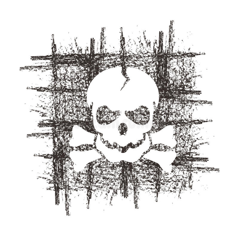 头骨。传染媒介格式 皇族释放例证