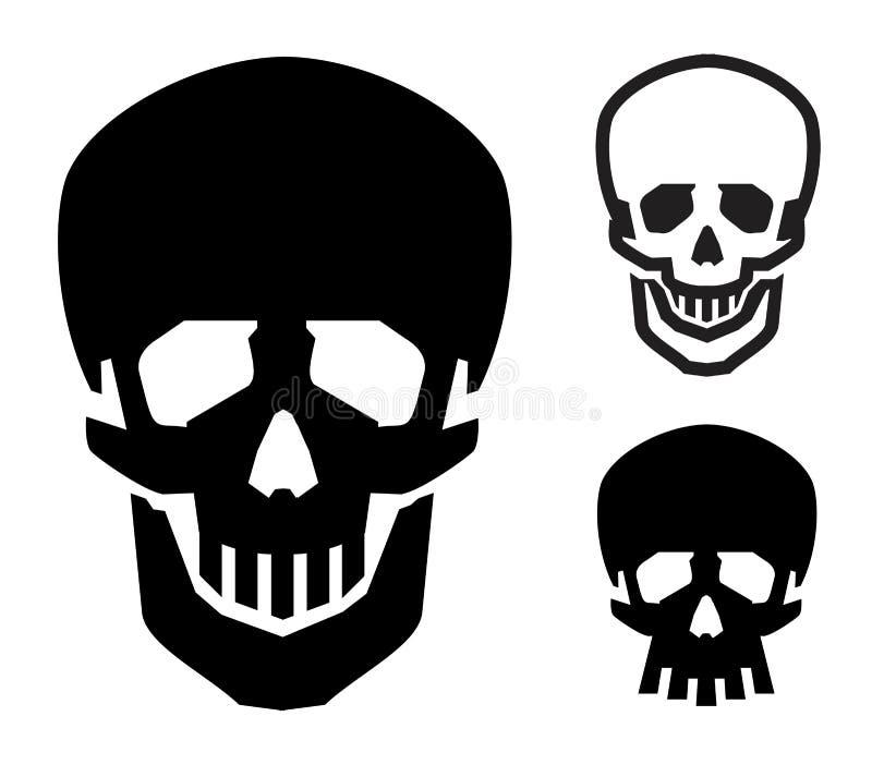 头骨传染媒介商标设计模板 海盗旗或 向量例证