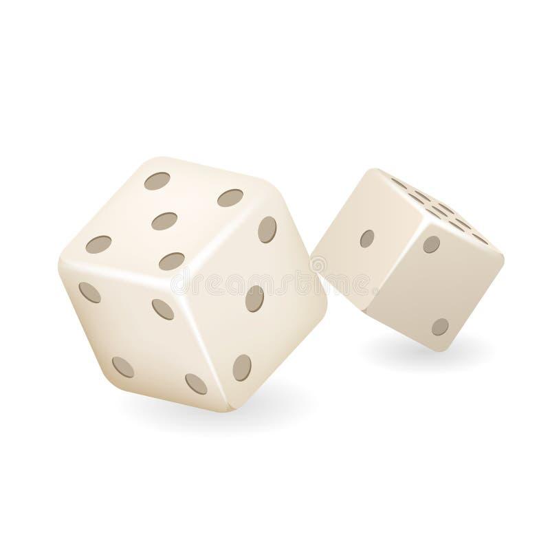 骨头模子3d现实赌博娱乐场赌博游戏deisgn被隔绝的象传染媒介例证 向量例证