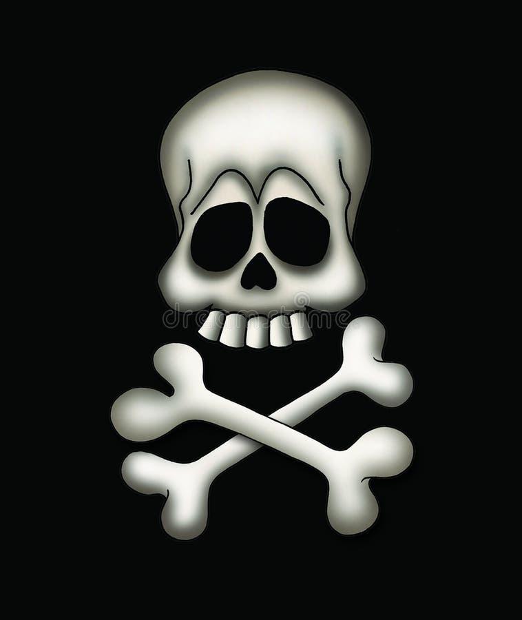 骨头海盗头骨 向量例证