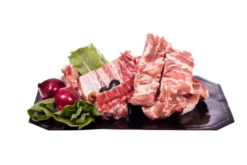 骨头猪肉 库存照片