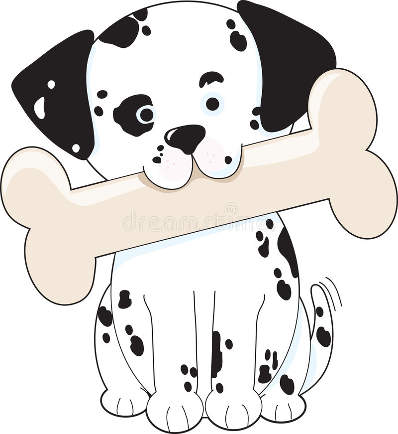 骨头达尔马提亚狗 向量例证