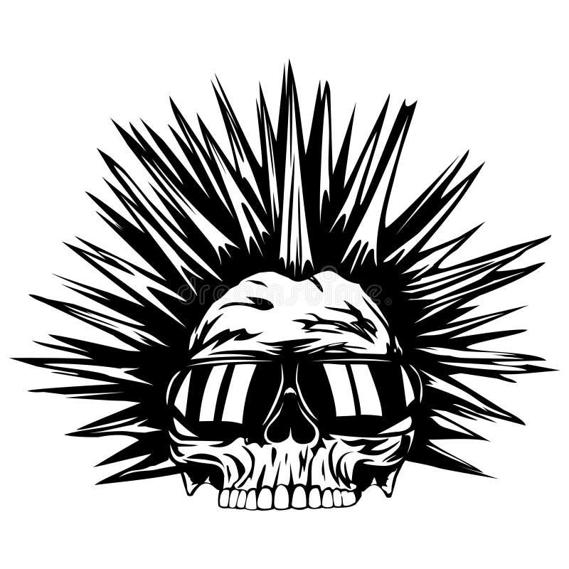 头骨废物太阳镜 向量例证