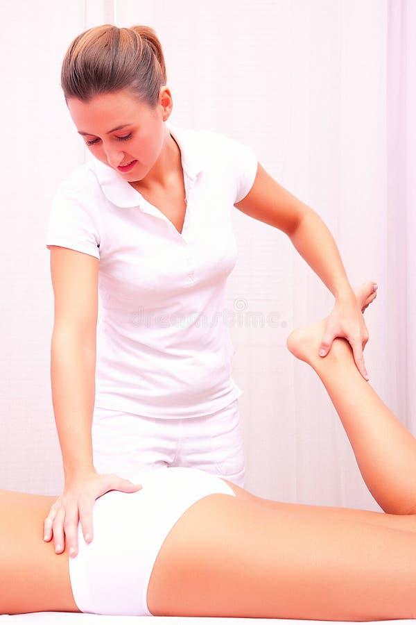 整骨疗法手工疗法腰脊柱 免版税库存图片