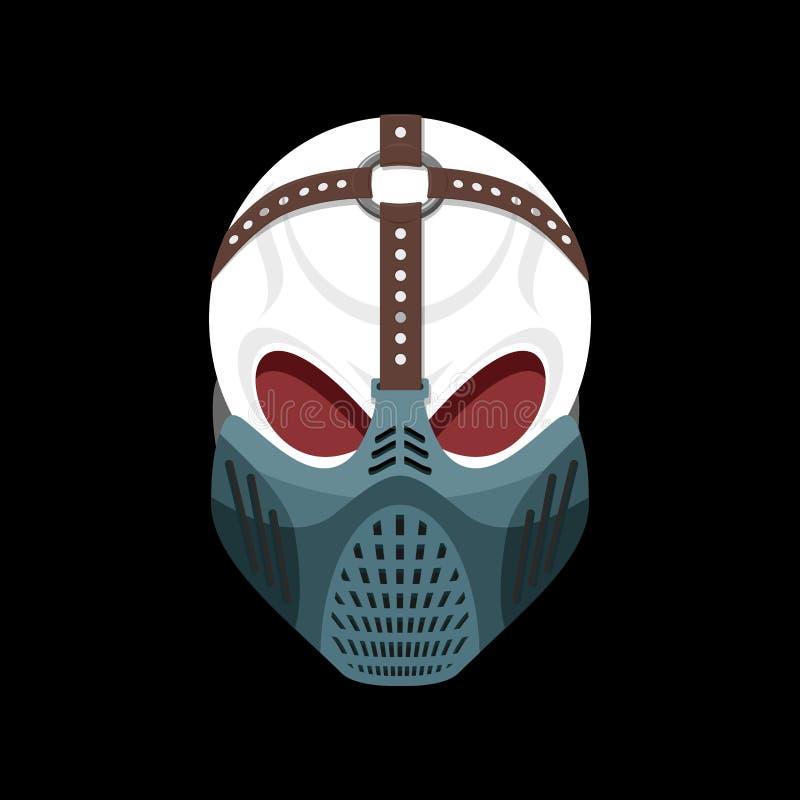 头骨防毒面具 地狱防御者 可怕的头疼 skeleto 皇族释放例证