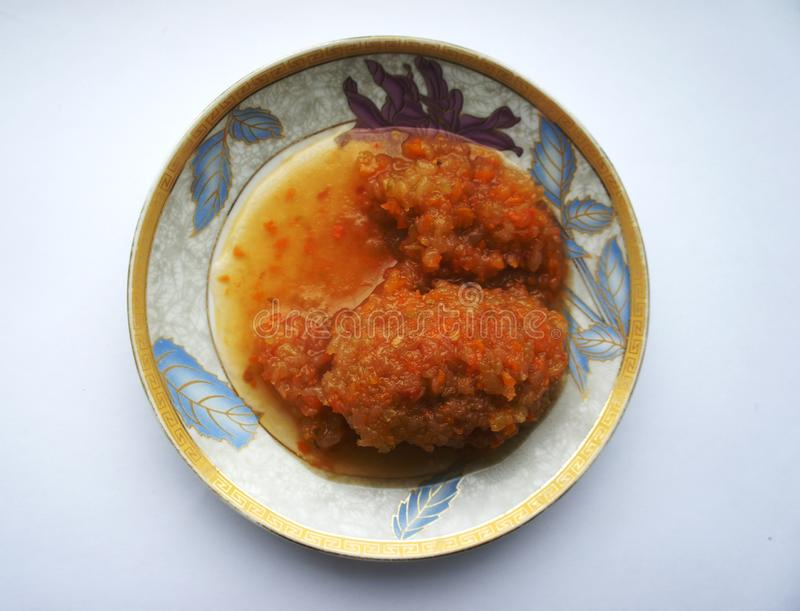 骨髓鱼子酱手 免版税图库摄影