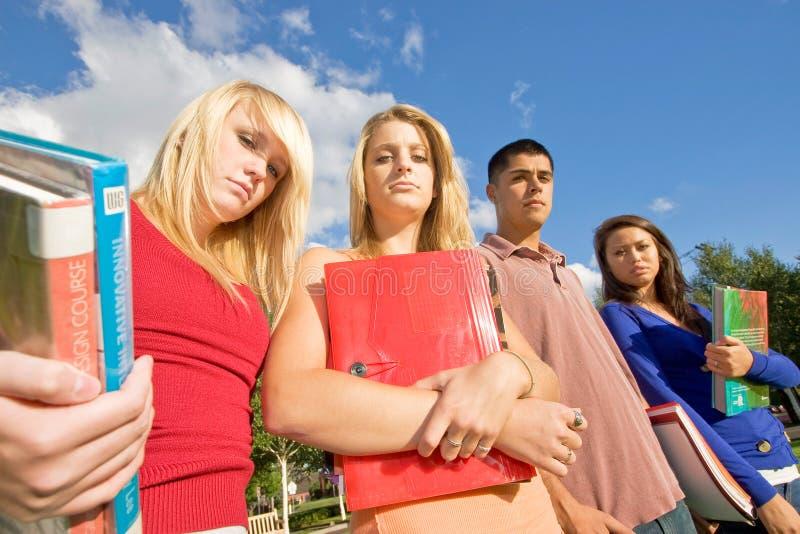 高中学员 免版税库存图片