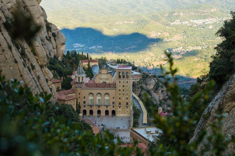 高修道院蒙特塞拉特岛山西班牙 库存图片