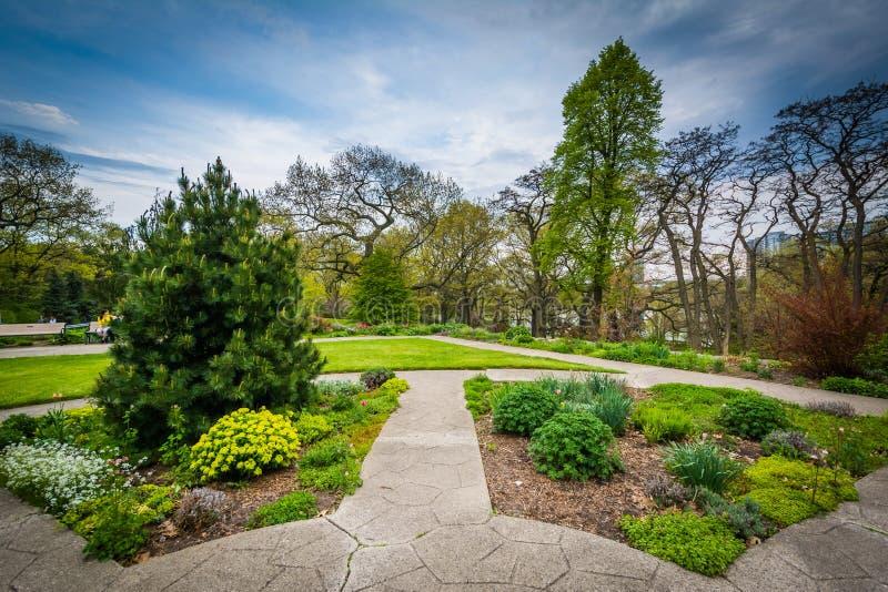 高公园的庭院,在多伦多,安大略 库存照片