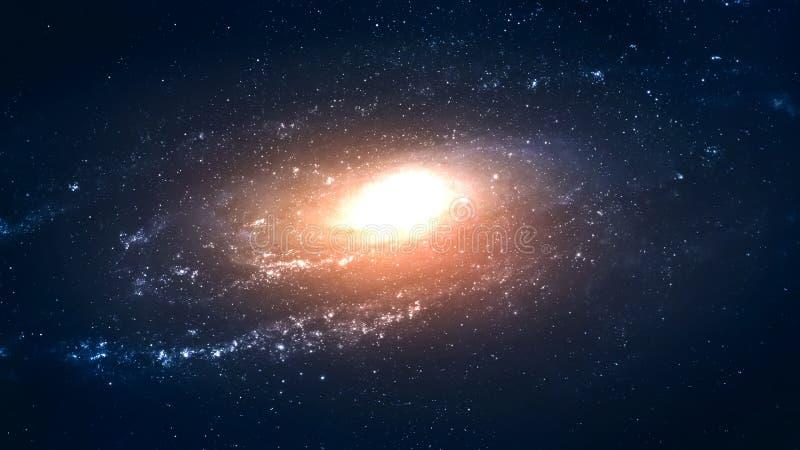 高分辨率难以置信地美丽的旋涡星云 免版税库存图片
