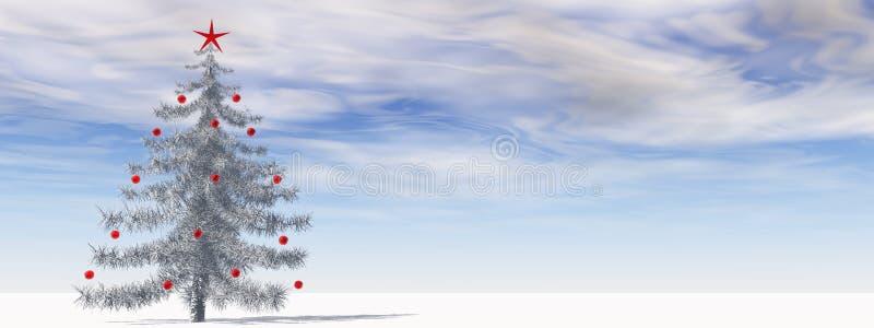 高分辨率3D圣诞树 向量例证