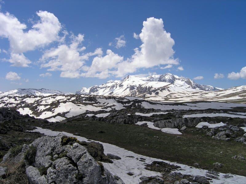 高加索山脉 向量例证