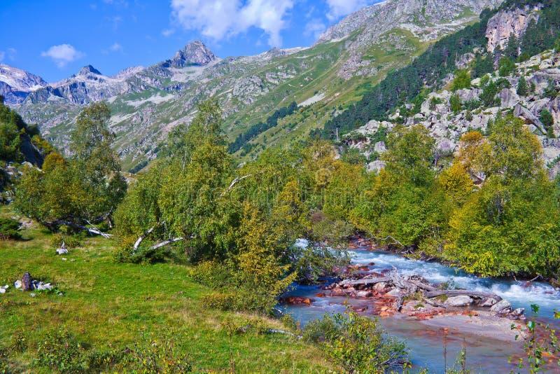 高加索的山峡谷 免版税图库摄影