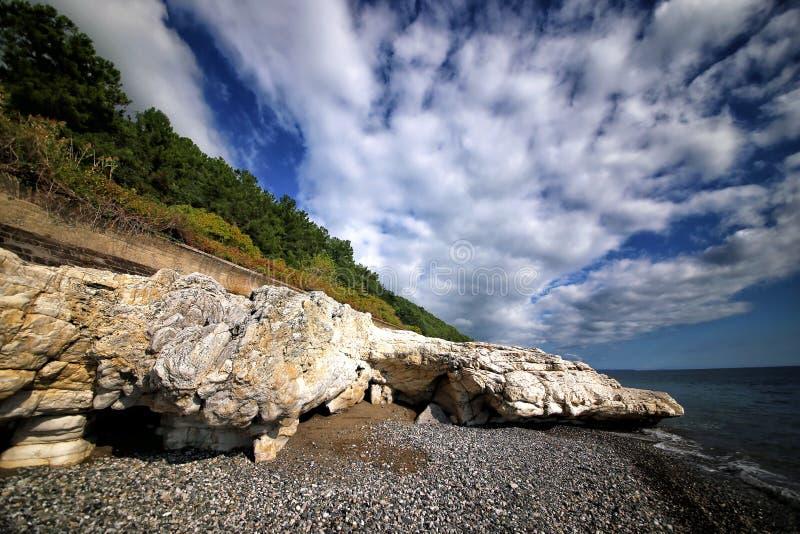 高加索的黑海海岸 库存照片