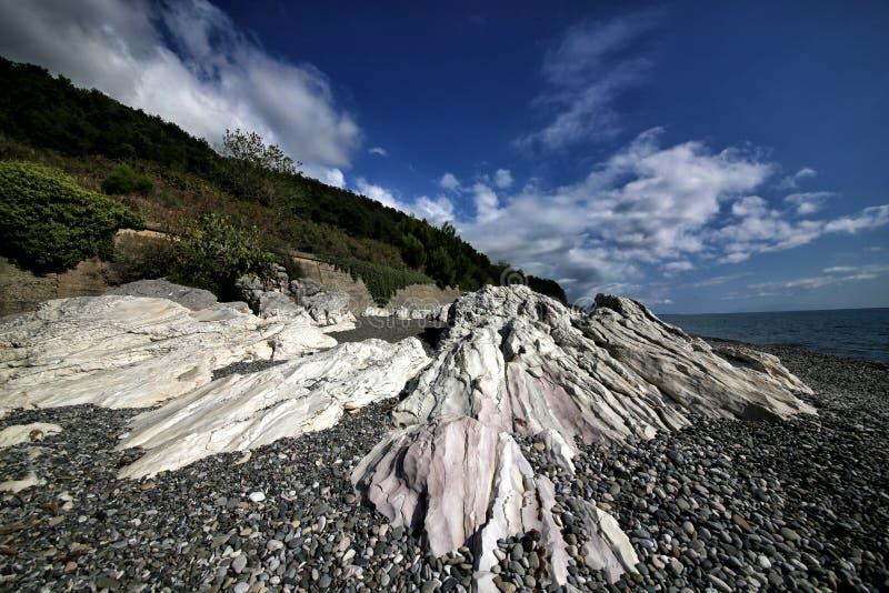 高加索的黑海海岸 库存图片