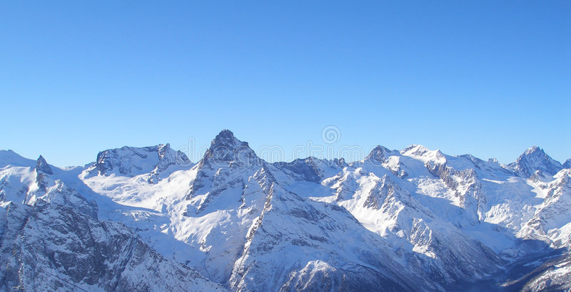 高加索dombai挂接手段滑雪 库存照片