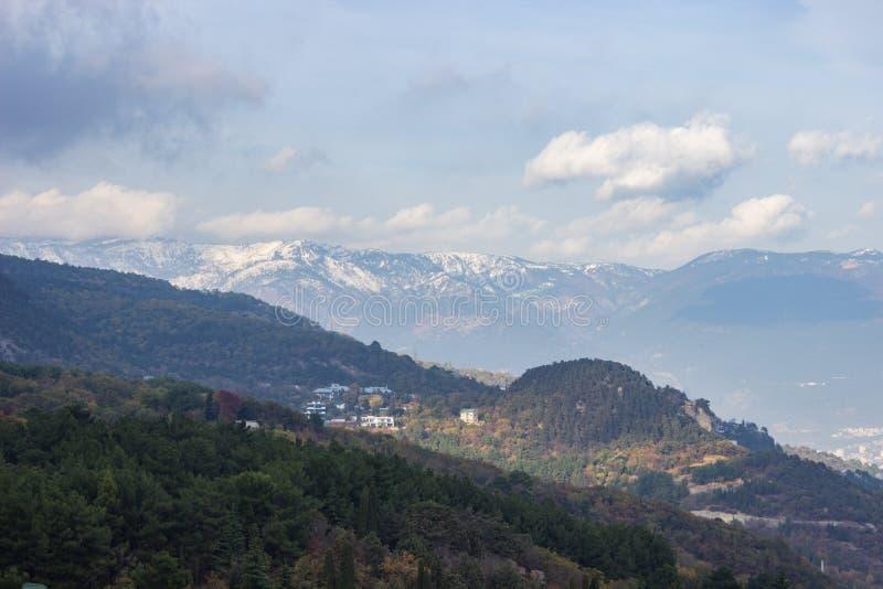 高加索dombay山山峰 图库摄影