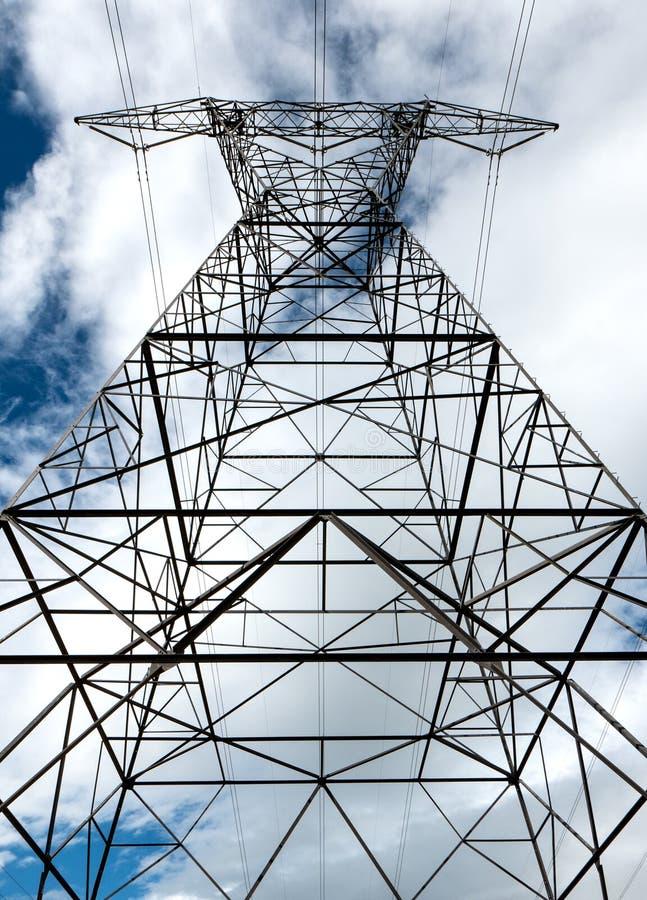 高压输电线 库存照片
