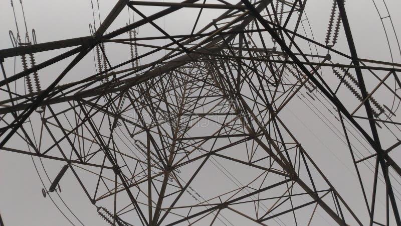 高压33000伏特电光栅结构 免版税库存图片