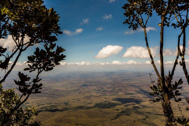从高原Roraima的看法对Gran Sabana地区-委内瑞拉,南美 免版税库存照片