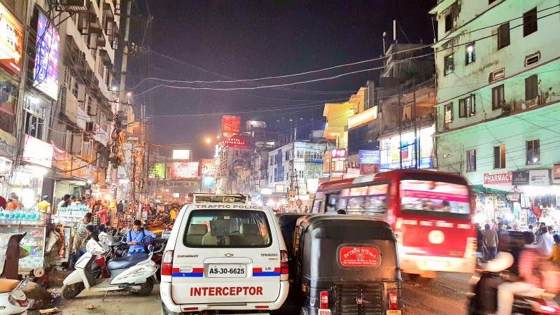 高哈蒂镇,阿萨姆邦首都 免版税图库摄影