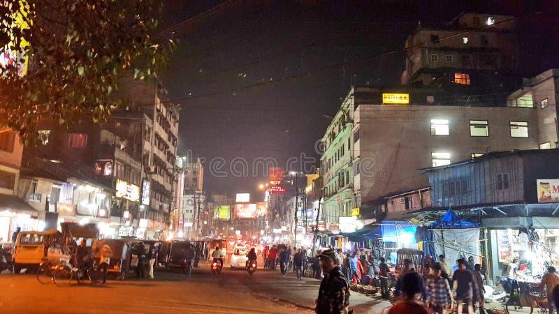 高哈蒂镇,阿萨姆邦首都 图库摄影